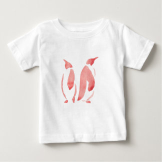 Red Penguin Pair Baby T-Shirt