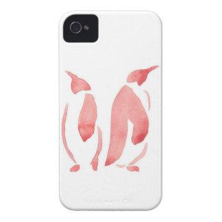 Red Penguin Pair iPhone 4 Cases
