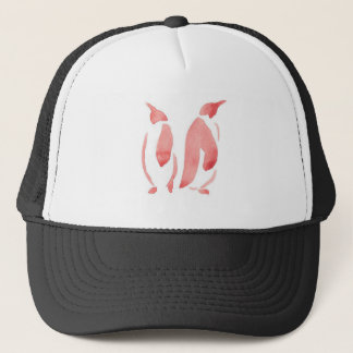 Red Penguin Pair Trucker Hat