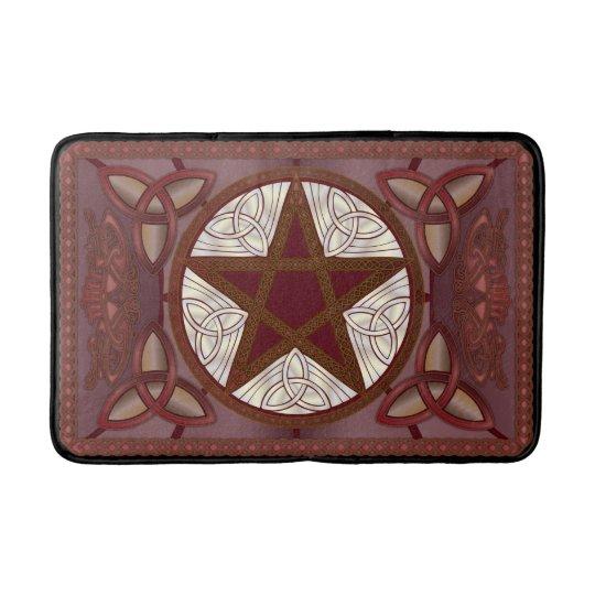 Red Pentagram & Triquatras Bath Mat