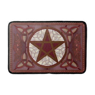 Red Pentagram & Triquatras Bathroom Mat