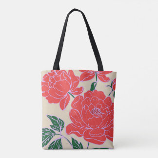 Red Peonies #1 Tote Bag