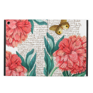 Red Peony Calligraphy iPad Air Cover