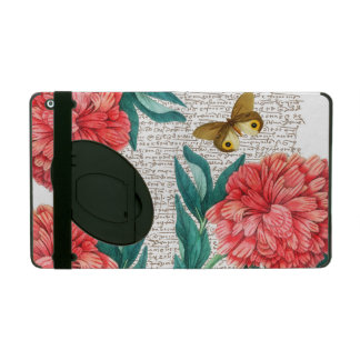 Red Peony Calligraphy iPad Cover