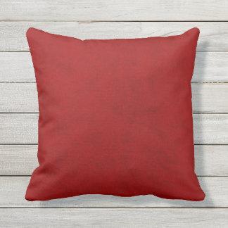 Red Peony Gambler Velvet Look Throw Pillow