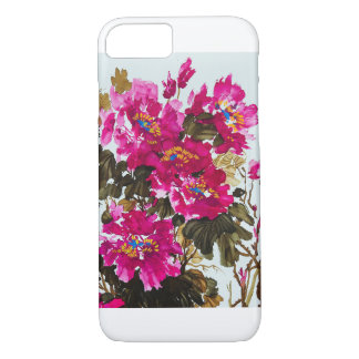 Red Peony iPhone 7 Case