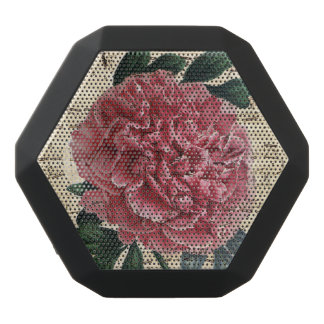 Red Peony Music Black Bluetooth Speaker