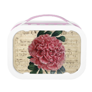 Red Peony Music Lunch Box