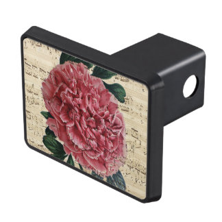 Red Peony Music Trailer Hitch Cover