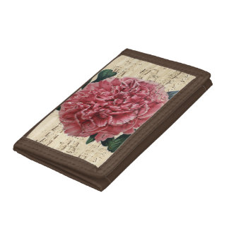 Red Peony Music Tri-fold Wallet