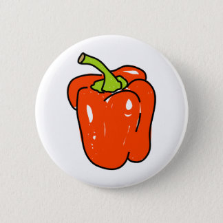 Red Pepper 2 Inch Round Button