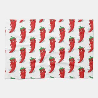 Red Pepper Diva Cartoon Pattern Kitchen Towel