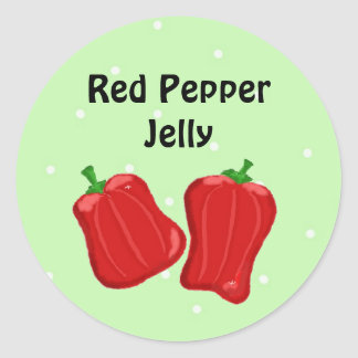 Red Pepper Jelly Classic Round Sticker