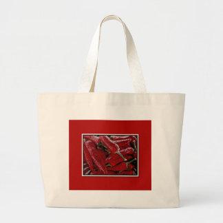Red pepper jumbo tote bag