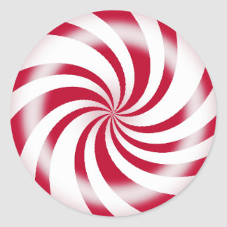 Red Peppermint Candy Sticker