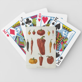 Red peppers bicycle playing cards