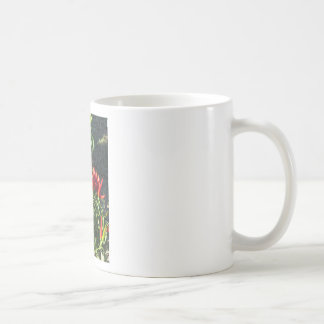Red peppers hanging on the plant . Tuscany, Italy Coffee Mug