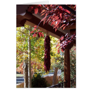 Red Peppers in New Mexico Fall Foliage Card