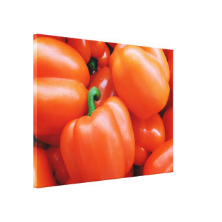 Red Peppers Photo Canvas