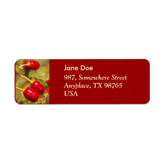 Red Peppers Return Address Label
