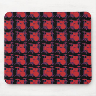 red percussion drums mousepads
