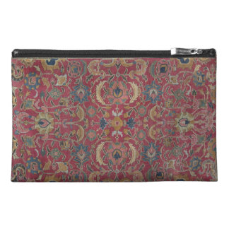Red Persian Carpet Organizer Travel Accessory Bag
