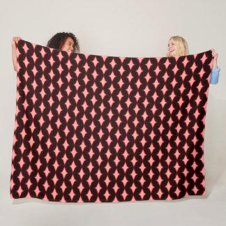 Red Persian Diamonds Plush Pattern Quilt Fleece Blanket
