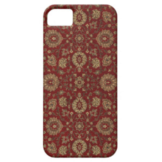 Red Persian scarlet arabesque tapestry Case For The iPhone 5