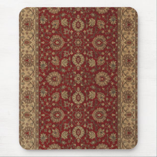 Red Persian scarlet arabesque tapestry Mouse Pad