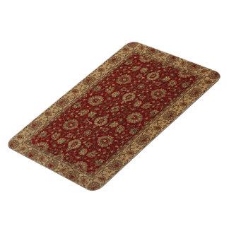Red Persian scarlet arabesque tapestry Rectangular Photo Magnet