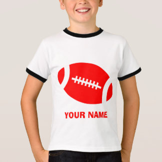 Red Personalized Football T-Shirt