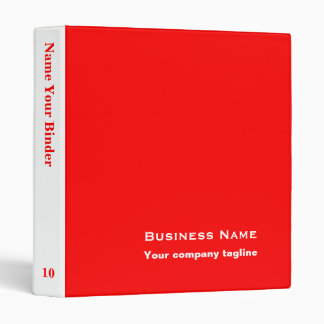 Red - Personalized Office Binders