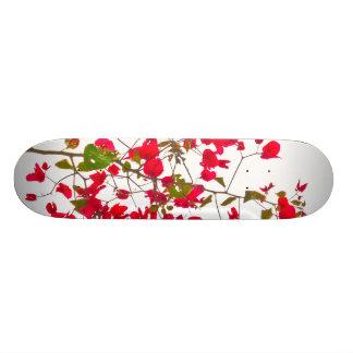 Red petals flowers custom skateboard