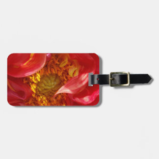 red petals luggage tag