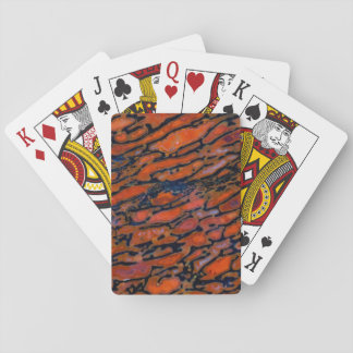 Red Petrified dinosaur bone Poker Deck