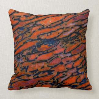 Red Petrified dinosaur bone Throw Pillow