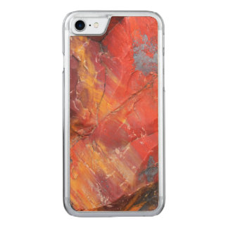 Red Petrified wood detail, Arizona Carved iPhone 7 Case