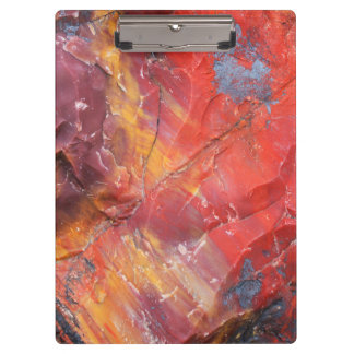 Red Petrified wood detail, Arizona Clipboards