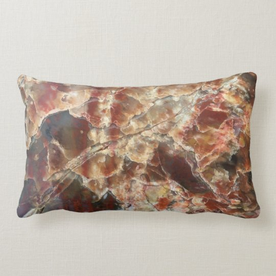 Red Petrified Wood Pillow