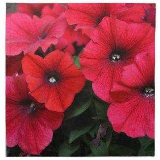 Red petunia flowers cloth napkins