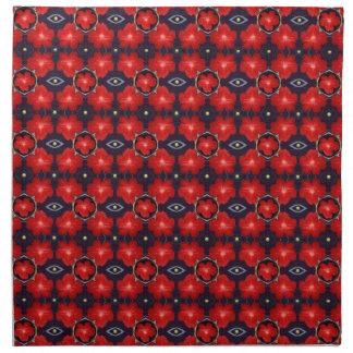 Red Petunia Pattern Napkin