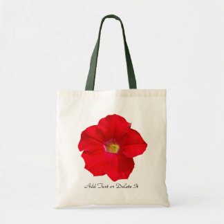 Red Petunia Tote Bag