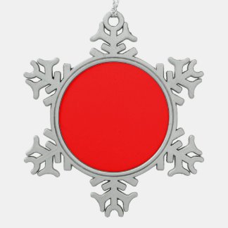 Red Pewter Snowflake Ornament