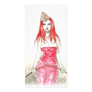 Red Phoenix Rising Photo Card