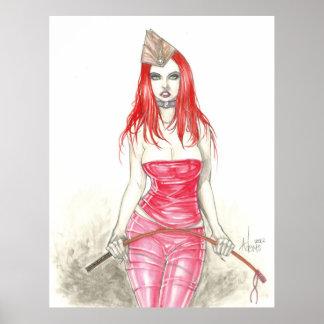 Red Phoenix Rising Poster