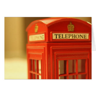 Red Phone Booth Card