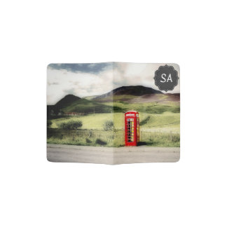 Red Phone Booth Customizable Passport Cover