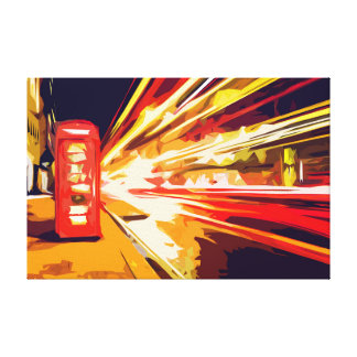 Red Phone Booth in London UK by Busy Street Canvas