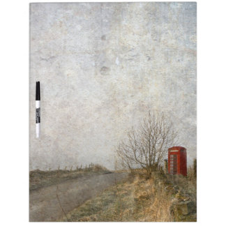 Red Phone Box Dry Erase Whiteboard