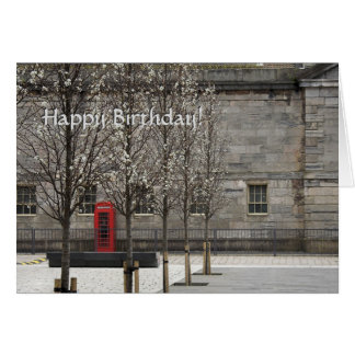 Red Phone Box in Royal William Yard Card